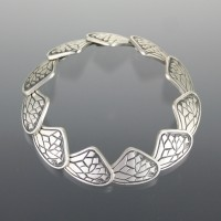 Cast sterling bracelet by Laura Kiefer
