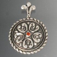Chasing & Repousse Pendant made by Jim Jordan